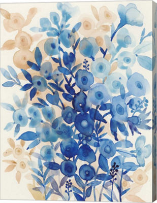 Metaverse Art Blueberry Floral II Canvas Wall Art