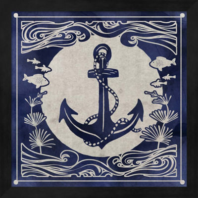 Metaverse Art Ink Anchor Framed Wall Art