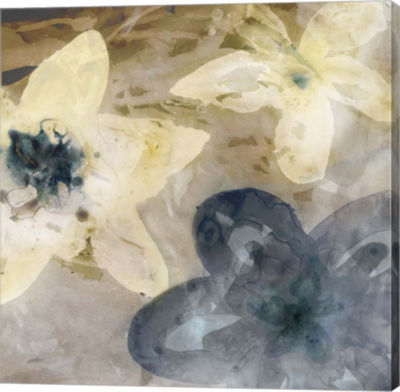 Metaverse Art Ink Drip Floral I Canvas Art