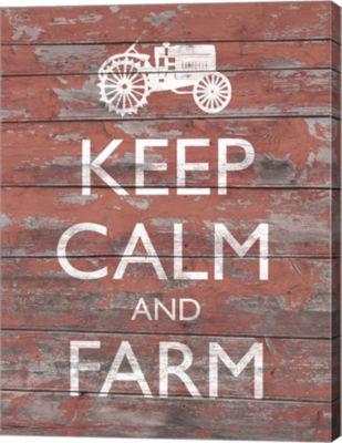 Metaverse Art Keep Calm & Farm II Canvas Wall Art