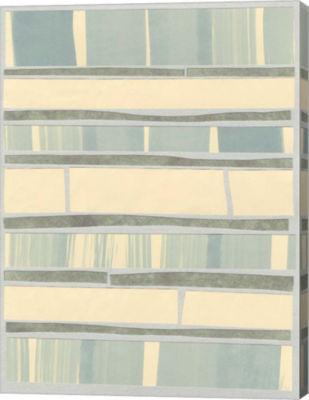 Metaverse Art Ocean Inlay II Canvas Wall Art