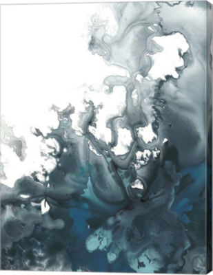 Metaverse Art Indigo Tempest I Canvas Wall Art