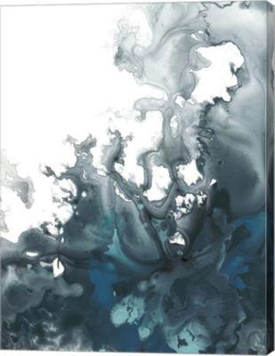 Metaverse Art Indigo Tempest I Canvas Wall Art