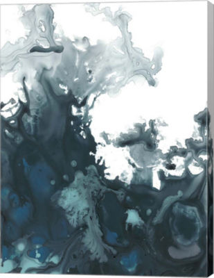 Metaverse Art Indigo Tempest II Canvas Wall Art
