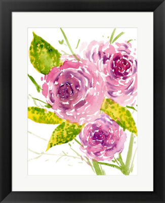 Metaverse Art Bouquet Rose I Framed Wall Art