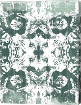 Metaverse Art Sea Green Kaleidoscope III Canvas Wall Art