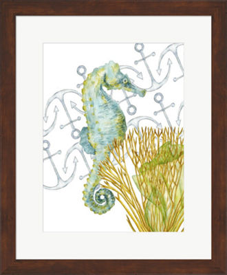 Metaverse Art Undersea Creatures I Framed Wall Art