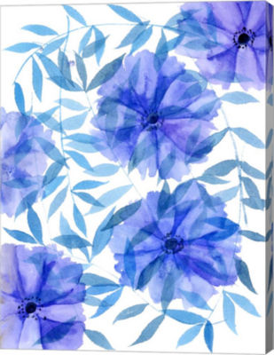 Metaverse Art Midnight Flowers I Canvas Wall Art