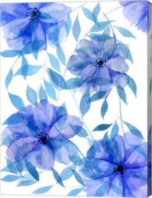 Metaverse Art Midnight Flowers II Canvas Wall Art