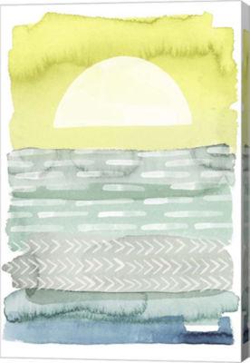 Metaverse Art Sunrise Sea I Canvas Wall Art