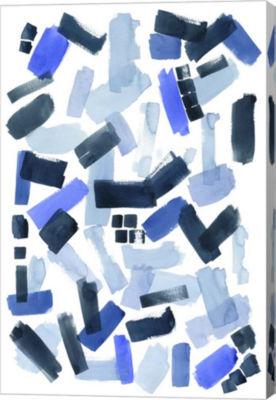 Metaverse Art Cerulean Strokes I Canvas Wall Art