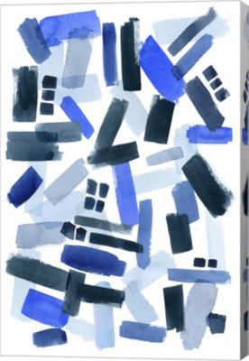 Metaverse Art Cerulean Strokes II Canvas Wall Art