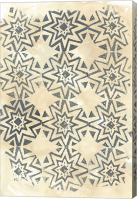Metaverse Art Ancient Textile IV Canvas Wall Art