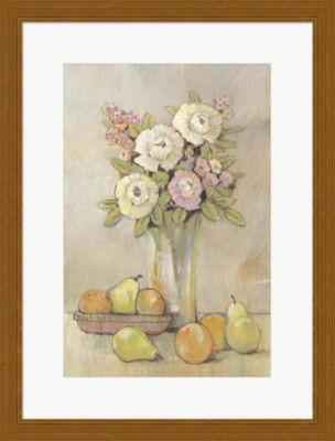 Metaverse Art Still Life Study Flowers & Fruit I Framed Wall Art