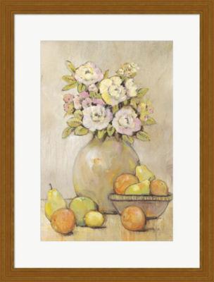 Metaverse Art Still Life Study Flowers & Fruit IIFramed Wall Art