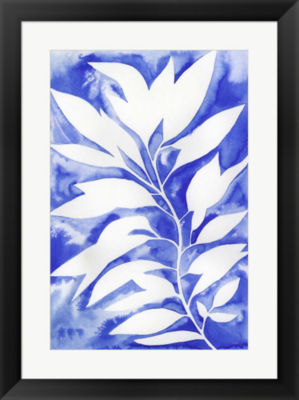 Metaverse Art Ink Blot Vine I Framed Wall Art