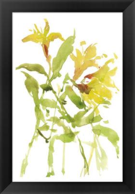 Metaverse Art Watercolor Lilies I Framed Wall Art