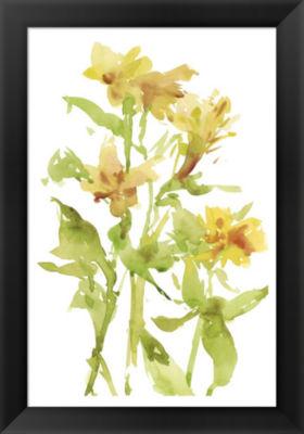 Metaverse Art Watercolor Lilies II Framed Wall Art