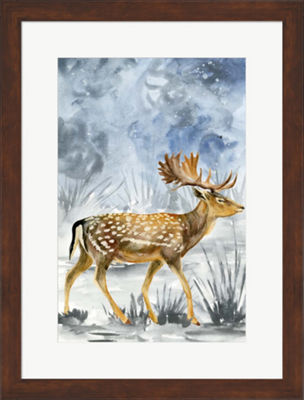 Metaverse Art Snowy Night I Framed Wall Art