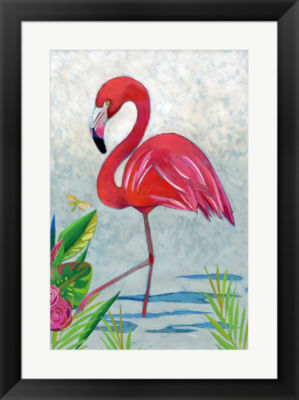 Metaverse Art Vivid Flamingo I Framed Wall Art