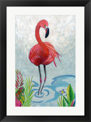 Metaverse Art Vivid Flamingo II Framed Wall Art