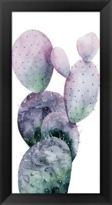 Metaverse Art Purple Cactus I Framed Wall Art