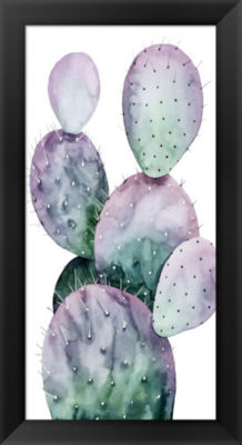 Metaverse Art Purple Cactus II Framed Wall Art