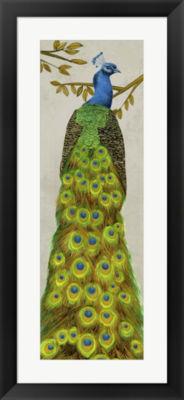 Metaverse Art Vintage Peacock I Framed Wall Art