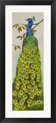 Metaverse Art Vintage Peacock II Framed Wall Art