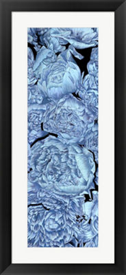 Metaverse Art Blue Peonies II Framed Wall Art