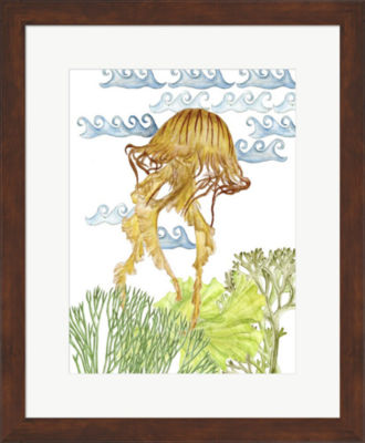Metaverse Art Undersea Creatures IV Framed Wall Art