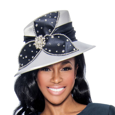 Giovanna Signature Women's Rhinestone-embellished Satin Hat