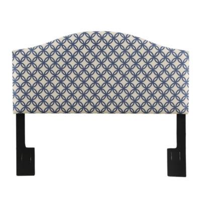 Nevin Camel Back Quatrefoil Upholstered Headboard