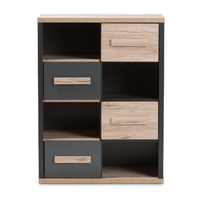 Baxton Studio Pandora 4-Drawer Storage Cabinet