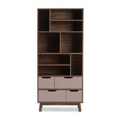 Baxton Studio Britta Modern Wood Bookcase
