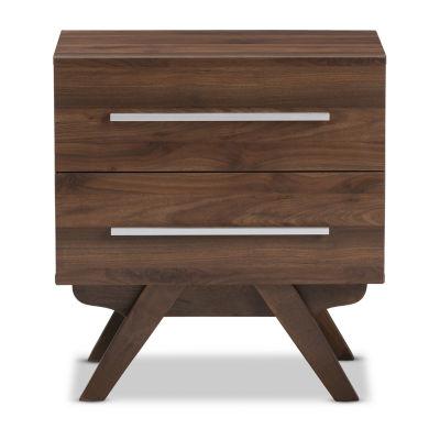 Baxton Studio Auburn 2-Drawer Nightstand