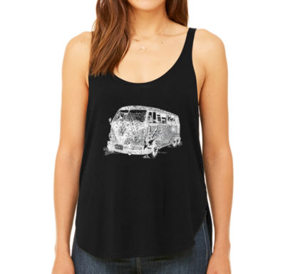 Los Angeles Pop Art Women's Premium Word Art Flowy Tank Top - The 70's