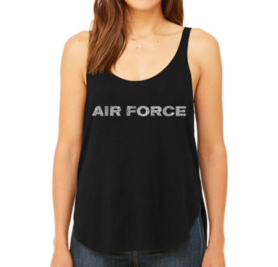 Los Angeles Pop Art Women's Premium Word Art Flowy Tank Top - Lyrics To The Air Force Song