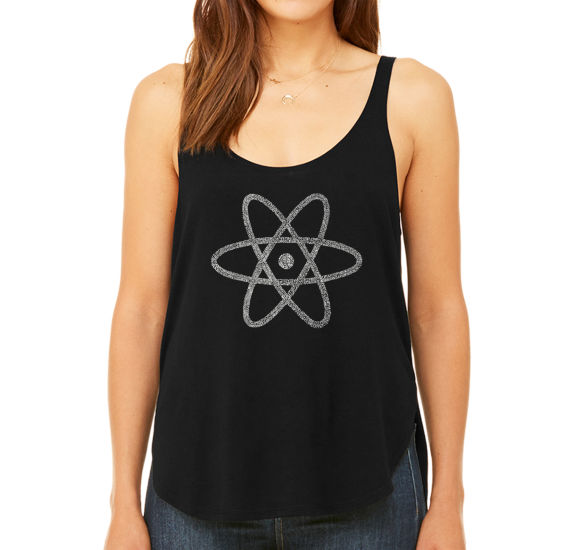 Los Angeles Pop Art Women's Premium Word Art Flowy Tank Top - Atom