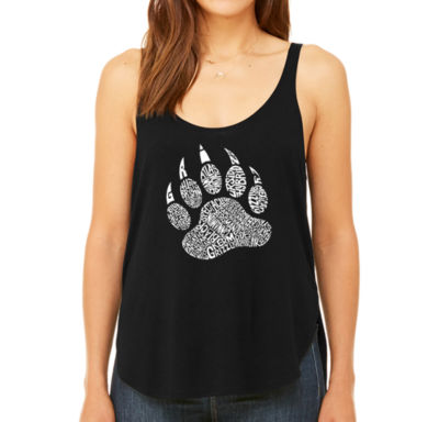 Los Angeles Pop Art Women's Premium Word Art Flowy Tank Top - Types of Bears