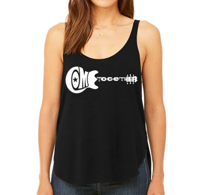 Los Angeles Pop Art Women's Premium Word Art Flowy Tank Top - Come Together