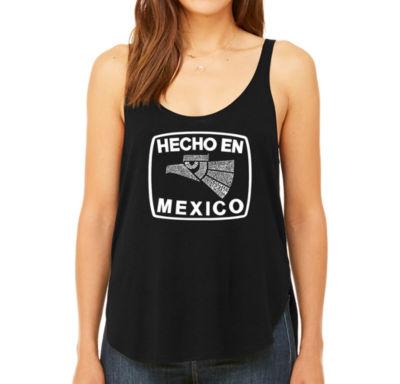 Los Angeles Pop Art Women's Premium Word Art Flowy Tank Top - Hecho En Mexico