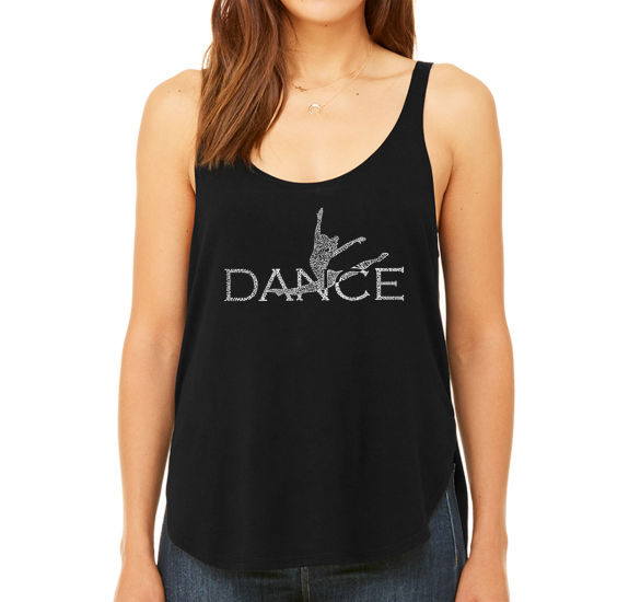 Los Angeles Pop Art Women's Premium Word Art Flowy Tank Top - Dancer