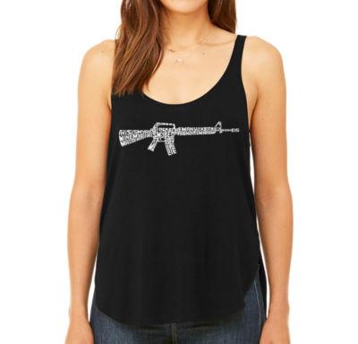 Los Angeles Pop Art Women's Premium Word Art Flowy Tank Top - Riflemans Creed