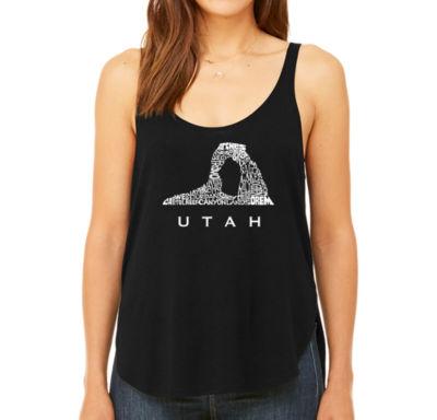 Los Angeles Pop Art Women's Premium Word Art Flowy Tank Top - Utah
