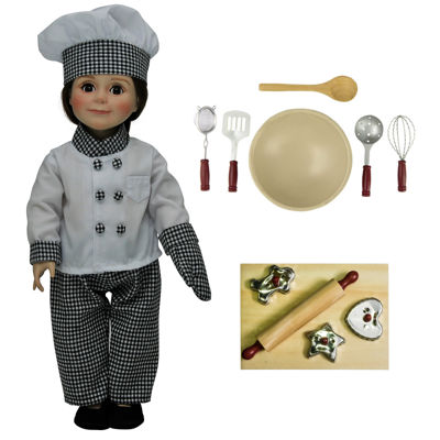 The Queen's Treasures 16-pc. Chefs Clothes; Tools;18 Inch Doll Set
