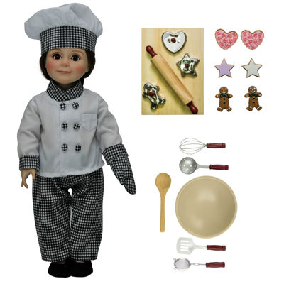 The Queen's Treasures 22-pc. Chefs Clothes, Tools,18 Inch Doll Set