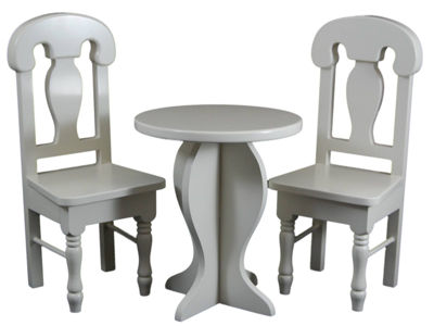 The Queen's Treasures Cafe Table & Chairs 18 InchDoll Furniture