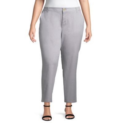 Liz Claiborne Classic Chino Crop Pant- Plus