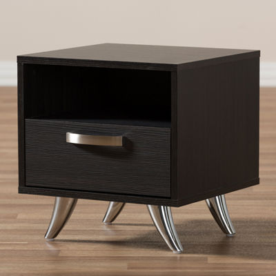 Baxton Studio Warwick 1-Drawer Nightstand